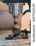 machining precision part by cnc ... | Shutterstock . vector #1097522129