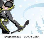 snowboard girl  snowboarding... | Shutterstock .eps vector #109752254