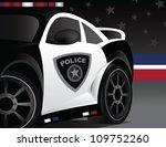 american patrol  police car... | Shutterstock .eps vector #109752260
