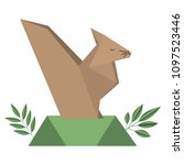 chipmunk origami paper in the... | Shutterstock .eps vector #1097523446