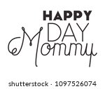 happy mothers day typography... | Shutterstock .eps vector #1097526074