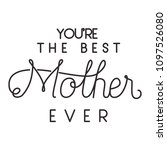 happy mothers day typography... | Shutterstock .eps vector #1097526080