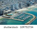 aerial view of tel aviv beach... | Shutterstock . vector #109752734