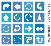 arrow icon set vector design | Shutterstock .eps vector #1097531456