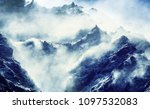 scenic view of mountains ... | Shutterstock . vector #1097532083