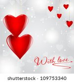 transparent red hearts on... | Shutterstock .eps vector #109753340