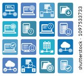 database icon set vector design | Shutterstock .eps vector #1097533733