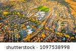 aerial view of a typical... | Shutterstock . vector #1097538998