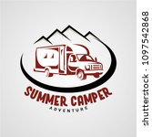 adventure rv camper car logo... | Shutterstock .eps vector #1097542868