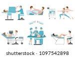 various birthing of pregnant... | Shutterstock .eps vector #1097542898