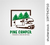 adventure rv camper car logo... | Shutterstock .eps vector #1097542910