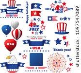 usa patriotic holidays vector... | Shutterstock .eps vector #1097547089