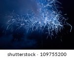 blue colorful holiday fireworks ... | Shutterstock . vector #109755200