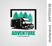 adventure rv camper car logo... | Shutterstock .eps vector #1097553158