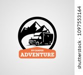 adventure rv camper car logo... | Shutterstock .eps vector #1097553164