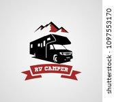 adventure rv camper car logo... | Shutterstock .eps vector #1097553170