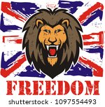 lion head logo for t shirt ... | Shutterstock .eps vector #1097554493