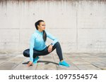 young  fit and sporty girl in...   Shutterstock . vector #1097554574