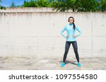 young  fit and sporty girl in...   Shutterstock . vector #1097554580