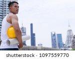 asian man worker labor in... | Shutterstock . vector #1097559770