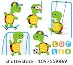 vector cartoon set of happy... | Shutterstock .eps vector #1097559869