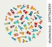 vector illustration  set of... | Shutterstock .eps vector #1097562854