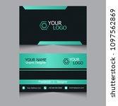 dark business card modern... | Shutterstock .eps vector #1097562869