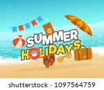 summer holidays poster  banner...   Shutterstock .eps vector #1097564759