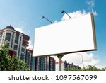 billboard  billboard  canvas... | Shutterstock . vector #1097567099