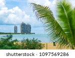 sanya  china   june 27  2017 ... | Shutterstock . vector #1097569286