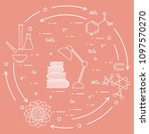 scientific  education elements. ... | Shutterstock .eps vector #1097570270
