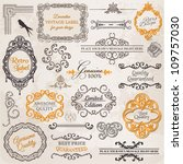 vector set  calligraphic design ... | Shutterstock .eps vector #109757030