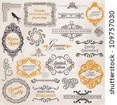 vector set  calligraphic design ... | Shutterstock .eps vector #109757030