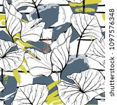 tropical  modern stripes motif. ... | Shutterstock .eps vector #1097576348