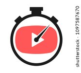 play button and stopwatch... | Shutterstock .eps vector #1097587670