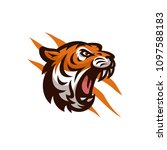 tiger vector icon logo mascot... | Shutterstock .eps vector #1097588183