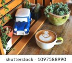Love Heart Latte Art Coffee Cu...