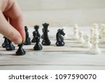 chess figure  business concept... | Shutterstock . vector #1097590070
