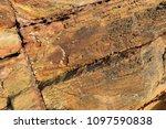 sedimentary rock pattern...   Shutterstock . vector #1097590838