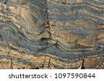 sedimentary rock pattern...   Shutterstock . vector #1097590844