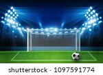 football arena field with... | Shutterstock .eps vector #1097591774