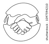 vector of handshake icon in... | Shutterstock .eps vector #1097594210