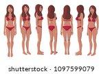 vector illustration of smiling... | Shutterstock .eps vector #1097599079