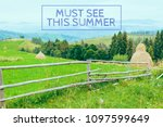 must see this summer text.... | Shutterstock . vector #1097599649