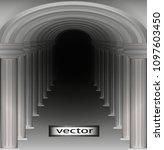 passage corridor of arches ...   Shutterstock .eps vector #1097603450