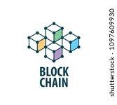 vector logo blockchain | Shutterstock .eps vector #1097609930