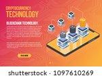 blockchain network business... | Shutterstock .eps vector #1097610269