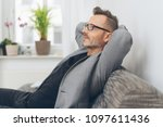 portrait of mature man with... | Shutterstock . vector #1097611436