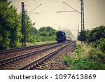 beautiful old steam train... | Shutterstock . vector #1097613869