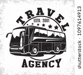 bus travel company logo design  ... | Shutterstock .eps vector #1097614913